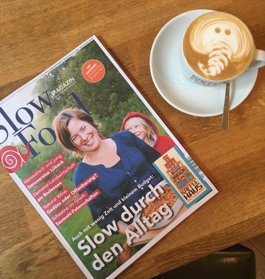 Das angesagte Magazin Slow Food aus Berlin hat über uns geschrieben und liegt jetzt bei uns aus. Schaut doch mal rein!