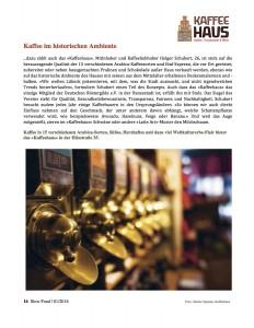 Kaffee im historischen Ambiente